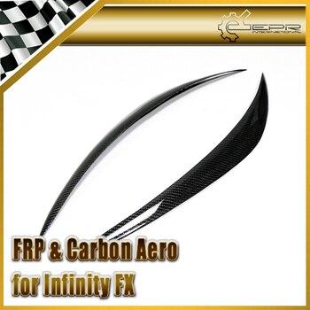 Car Styling For Infiniti 2009-2013 FX 35 37 50 Carbon Fiber Eyebrow Eyelid