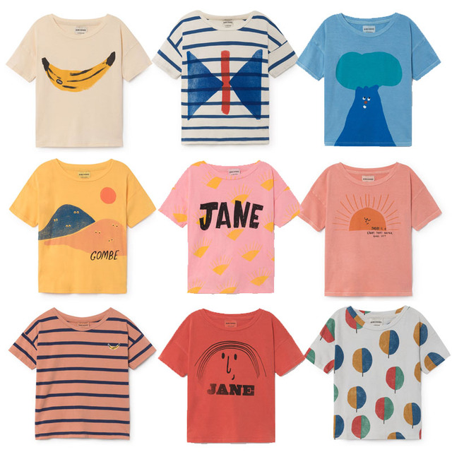 28502ed82c1 BBK In stock bobo choses children T shirts Summer 2018 Kids Baby boy Tops Short  Sleeve T-Shirt 100%cotton girls tee shirts