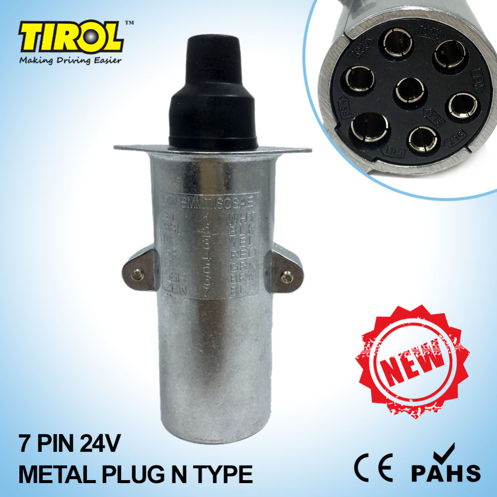 Tirol T23414b 7 Pin 24v Metal Trailer Plug N Type Wiring Connector Socket Tow Bar Towing In Couplings Accessories From Automobiles