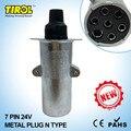 TIROL T23414b 7 Pin 24V Metal Trailer Plug N Type Wiring Connector Tow Bar Towing Socket &Plug