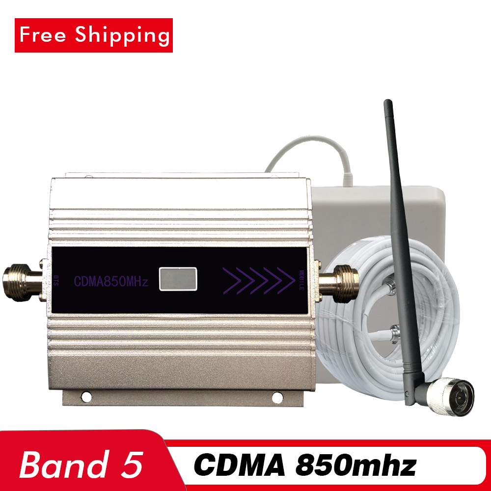 60dB LCD Display Cell Phone Signal Booster GSM CDMA 850mhz (LTE Band 5) Mobile Signal Repeater 2G 3G Network Cellular Amplifier