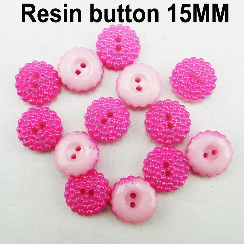 1000PCS new design carmine resin buttons 15MM Garment button coat boots sewing clothes accessory R-291-1