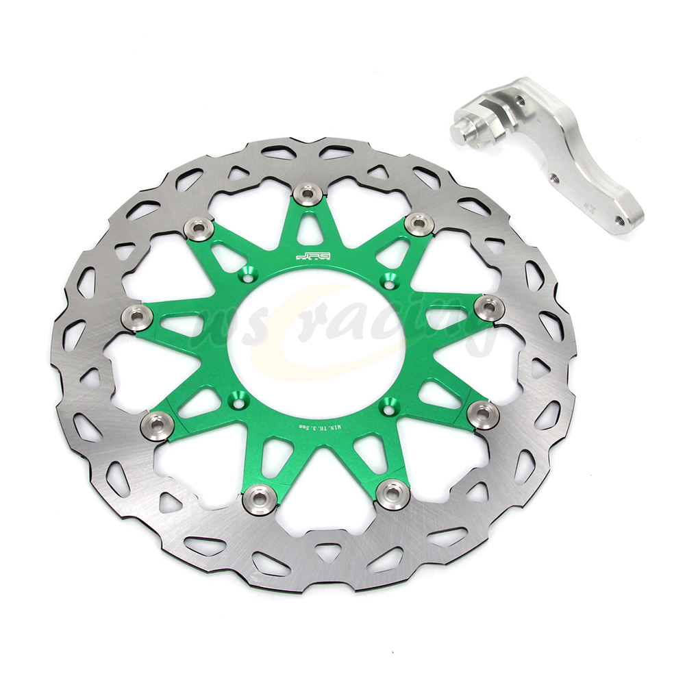 CNC 320MM Motorcycle Front Floating Brake Disc & Caliper Bracket Adapter For KAWASAKI KX250 KX250F KX450F KLX450R KX150 KLX250 цены