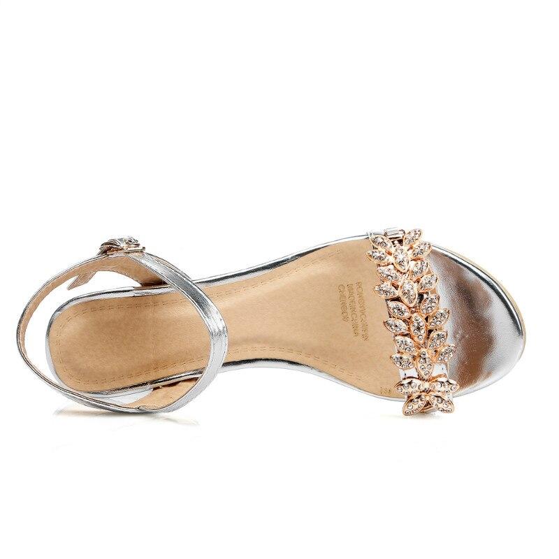 Confortable Chaussures argent Or Le Diamant Nouveau Compensées Femmes De Sandales Été Luxe Casual nUz6fqxfw