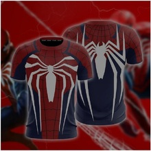 Spider-Man Cosplay PS4 New Look Unisex 3D T-shirt men Fitness Tights Base Layer Shirts Short Sleeve T-shirts Drop Ship