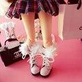1 пара 1/8 масштаб симпатичные ботинки снега обувь аксессуары для Блайт Pullip Момоко Азон Pukifee Lati-Желтый Барби кукла аксессуары