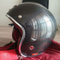New Masei 501 Ruby Carbon fiber motocross helmets vintage retro 3/4 open face helmet casque motocross free shipping