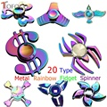 TOFOCO New Metal Rainbow Fidget Spinner Colourful Finger Hand Spinners Cube Toy Anti Stress Figet Spiner Toys Anime Movie