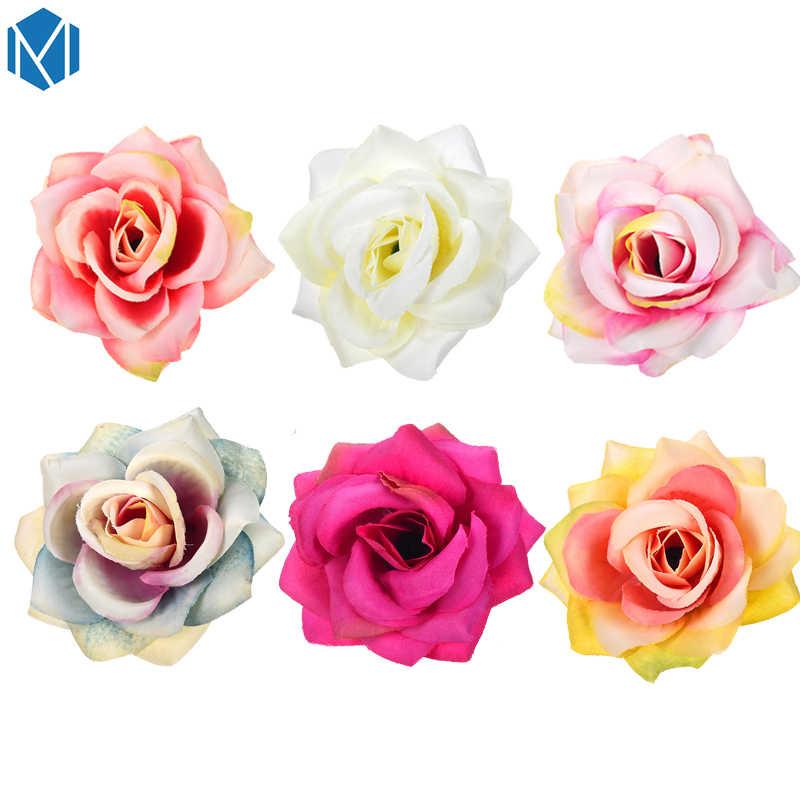 Винтажные женские Цветочные заколки в стиле бохо, свадебные цветочные аксессуары для волос, милая Свадебная большая заколка для волос Роза, пляжные вечерние заколки, головные уборы