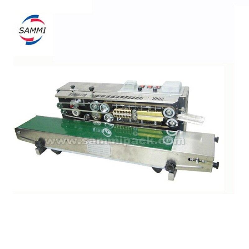 Полуавтоматическая машина для герметизации, Soild чернильный ленточный герметик с черной цветной печатью