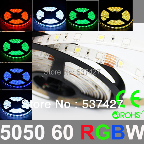 Epistar Chip 5050 SMD 60 LED/Meter RGBW LED Strip Light 2 years warranty,CE RoHS Certified, 5 Meter+1 Controller/Pack p10 real estate project hd clear led message board 2 years warranty
