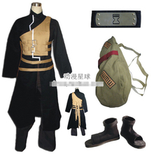 Cuscosplay Naruto Gaara cosplay costume full set include shoes headband bag cos