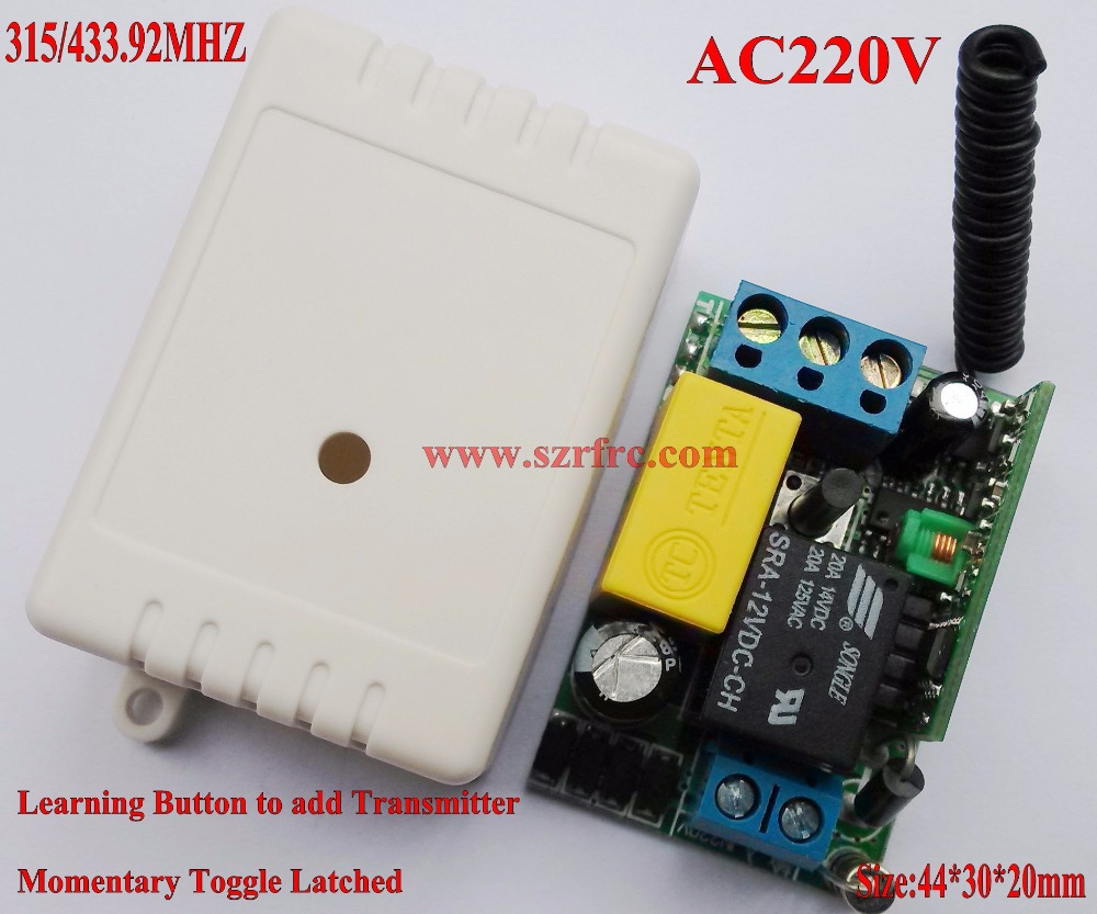 220V Remote Control Power Switches Mini Size Remote Controlled Lighting  Switch Momentary Toggle Learning Code 315/433MHZ In Switches From Home  Improvement ...
