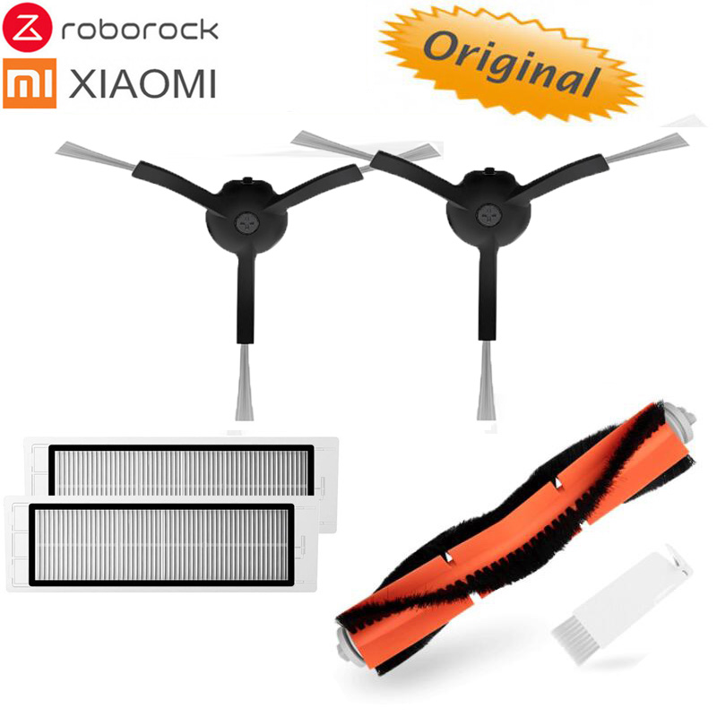 XIAOMI Roborock S55 E35 Robot Vacuum Part Black Side Brush Brush Cover Filter Brush Cover Original Parts Pack