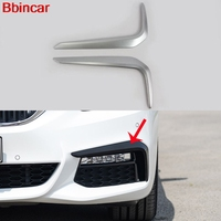 Bbincar Sport Car Front Rear Foglight Fog Light Lamp Eyelid Eyebrow Trim ABS Chrome Matte Silver