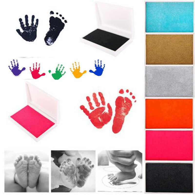 Baby Handprint Footprint ปลอดสารพิษทารกแรกเกิดพิมพ์ Inkpad ลายน้ำทารกของที่ระลึก Casting Clay ของเล่นของขวัญ