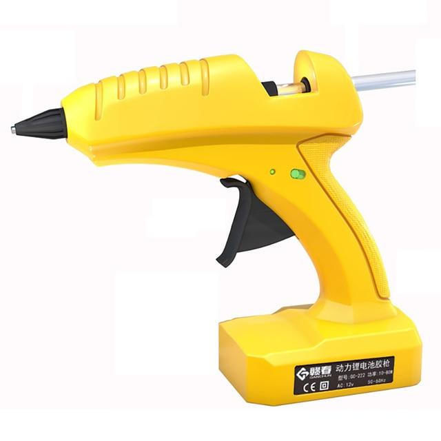 12v wireless lithium battery professional high temperature hot melt glue gun transplant repair hot air gun pneumatic DIY tool