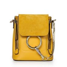 LUODUN2018 casual avant-garde leather handbag summer small bag multi-purpose ladies leather bag shoulder Messenger bag