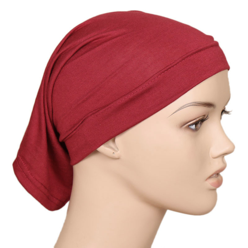 2020 High Quality Men Women Elastic Cotton Knitted Muslim Cover Head Wrap Caps Casual Tube Cap Hair Skullies Hat Bonnet Beanies