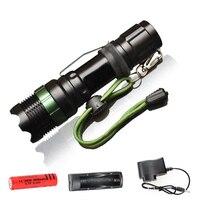 Flashlight CREE Q5 XM L T6 1000lm 2000Lumens LED Torch Zoomable Cree LED Flashlight Torch Light