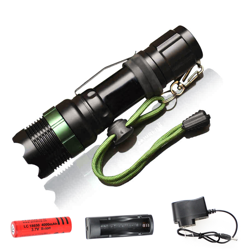 Flashlight CREE Q5 / XM L T6 1000lm / 2000Lumens LED Torch ...