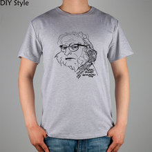 Asimov science fiction characters ISSAC T-shirt cotton Lycra top 10992 Fashion Brand t shirt men new high quality