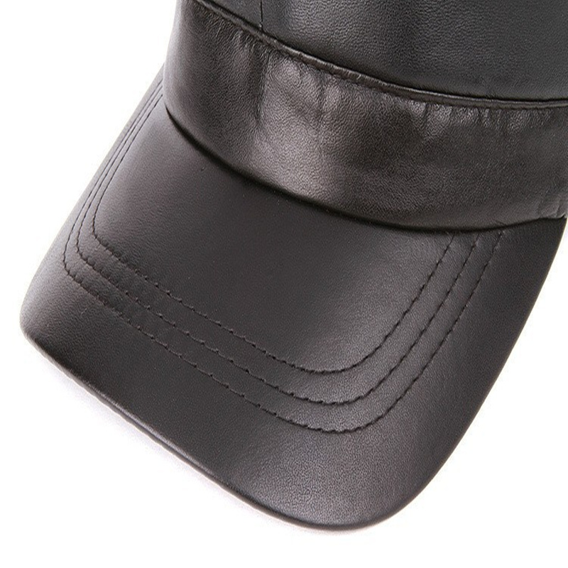 ae5f22b5b9f 2017 men Genuine leather Baseball Cap Biker Trucker outdoor Sports snapback  Hats For Army hat wholesale-in Baseball Caps from Apparel Accessories on ...