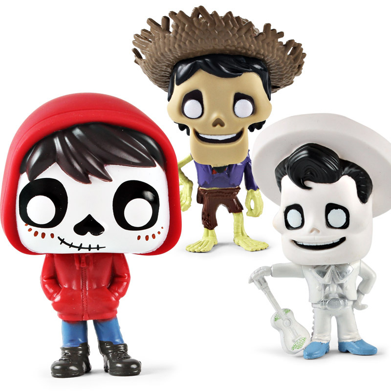 Funko pop Movie Coco Pixar Miguel Action Figure Toys Collectors Miguel/Hector&De La Curs pvc Action Figure Model toy for kids