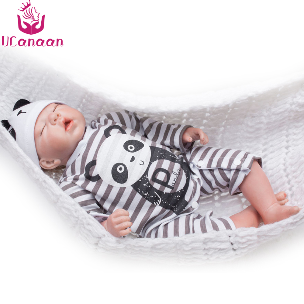 UCanaan Cloth Body Reborn Doll Silicone 20''/50CM Toys For Children Handmade Soft Baby Alive Dolls Bonecas Baby Reborn Brinquedo