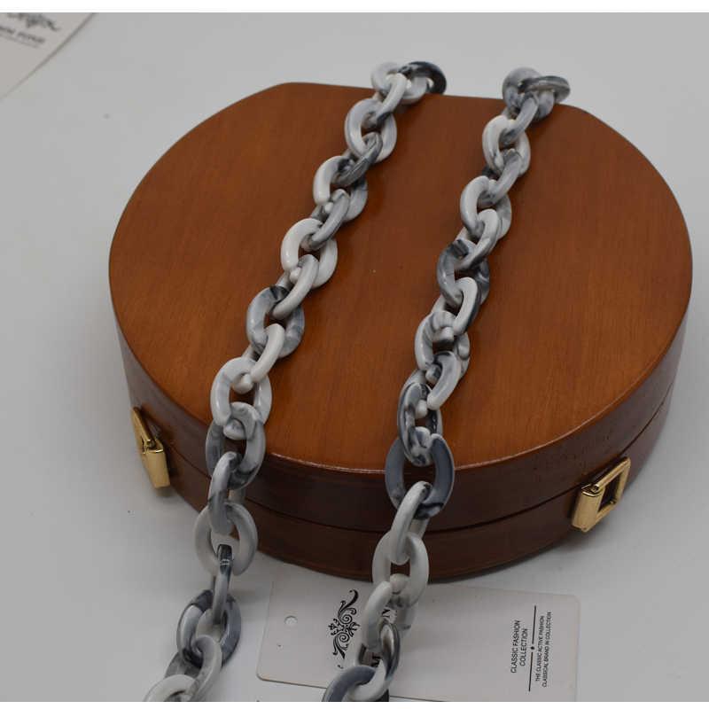 Черная или Серебряная или Золотая Пряжка шикарная Дамская Смола непростая сломанная сумка ремень много длины выбор девушки мода сумка аксессуары