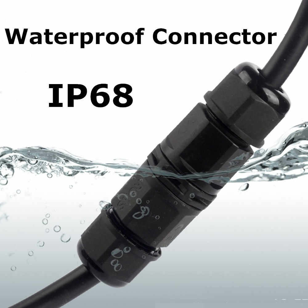 IP68 Power Cable Connector for Electrical Terminal Wire Adapter Connector Screw 2pin 3pin for 6/7.5/8/10mm wire cable connecter