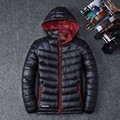 Hot Selling 2017  Men's Clothing Winter Casual Solid Color Detachable Hooded  Down Jackets and Coats  Duck Down Jackets 1618#