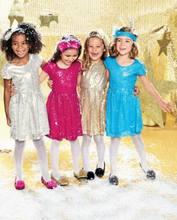 2017 été nouvelle fille effectuer robe paillettes parti princesse robe vêtements pour enfants 3-8 t only comprennent robe 70148