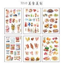 6 шт. удобные Пищевые Бумажные Наклейки для торта, цветов, фотоальбом, украшение для бумаги, наклейка Diy, Подарочная открытка ручной работы, стикер s