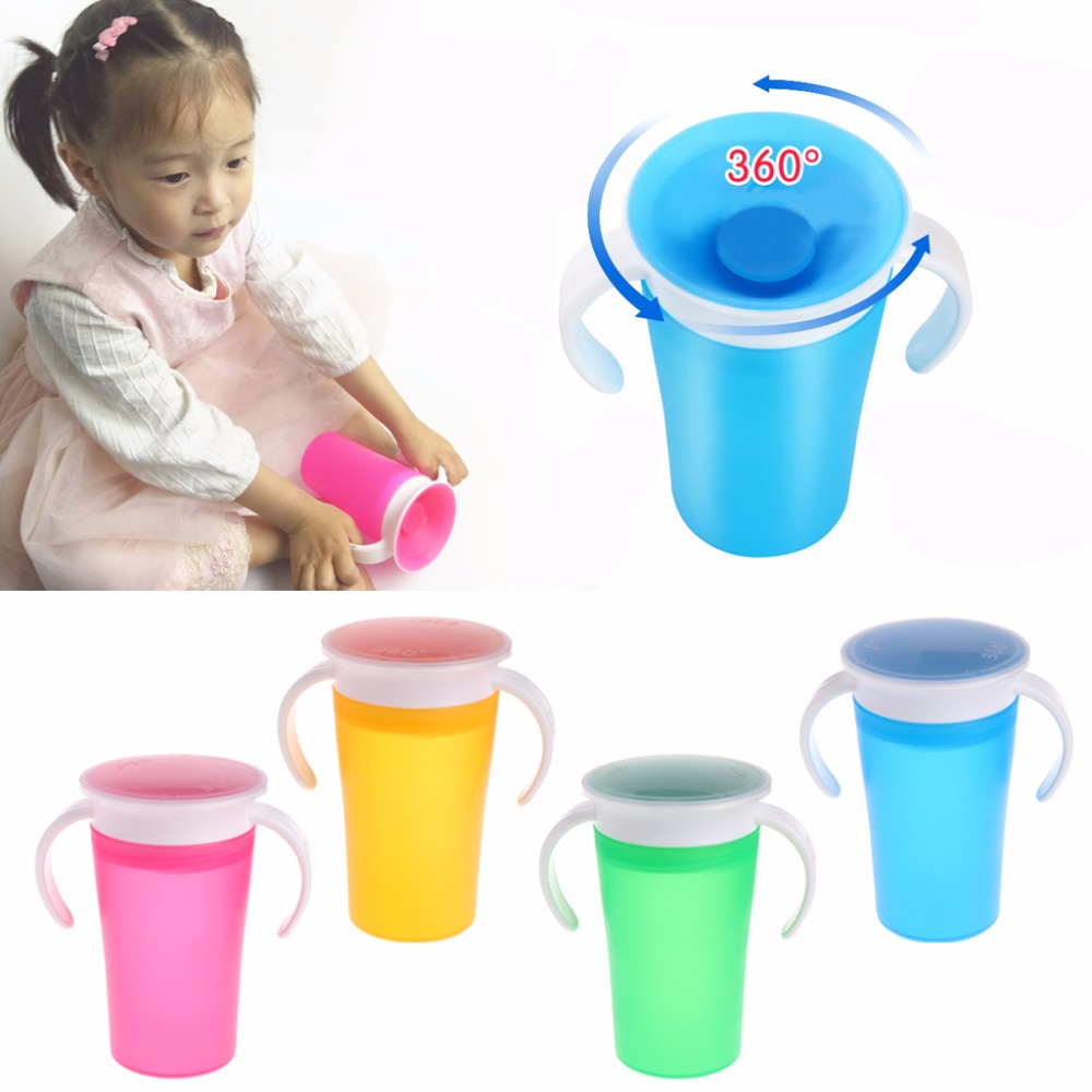 360 Degree Magic Drinking Prevent Leaking Cup Training Cups For Children Students Baby Drinking Bottle