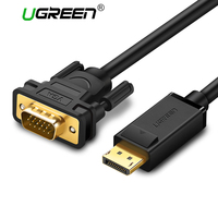 Ugreen Display Port To VGA Cable 1080P HD Aluminum Foil Shielding NXP Chips Cabo High Premium