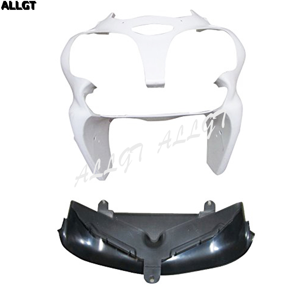 Unpainted Front Cowl ABS nose fairing Bodywork kit for 00- 02 KAWASAKI NINJA 636 ZX-6R 600 2000 2001 2002 high grade for kawasaki zx12r fairings 2000 ninja zx12 fairing 2001 zx 12r 00 01 green flame in glossy black sm17