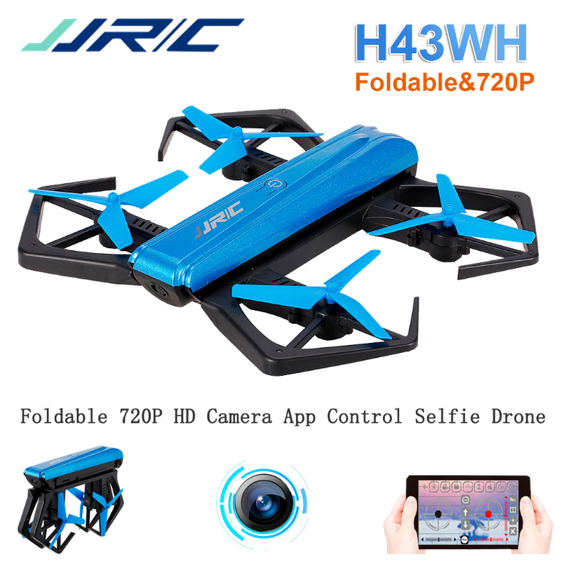 Mini Selfie Drone with Camera 720P HD JJRC H43WH Wifi FPV Folded Altitude Hold RC Quadcopter 6-Aix GYRO Headless Mode Helicopter  цена