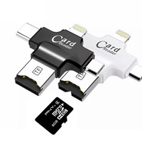 android 4 2 4 in 1 Type-c/Lightning/Micro USB/USB 2.0 Memory Card Reader Micro SD Card Reader for Android Ipad/iphone 7plus 6s5s OTG reader (2)