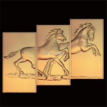цена на 3pcs Horse 3d model STL relief for cnc STL format frame animal 3d Relief Model STL Router 3 axis Engraver ArtCam