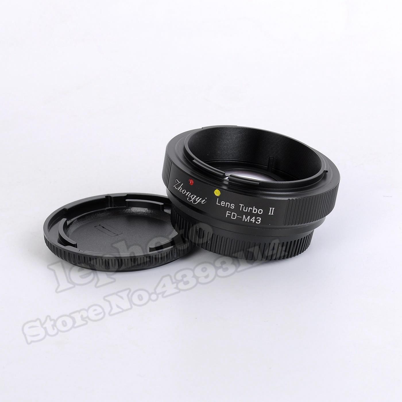 Mitakon Zhongyi obiektyw Turbo II ogniskowej reduktor wzmacniacz adapter do Canona FD mocowanie obiektywu do mikro cztery trzecie MFT kamera M43 GH4 OM D w Adaptery obiektywu od Elektronika użytkowa na  Grupa 1