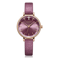 New Julius Women's Watch Japan Quartz Cutting Glass Lady Hours Fashion Clock Bracelet Real Leather Girl's Birthday Gift Box