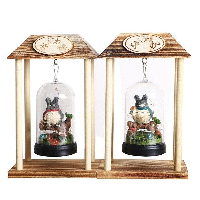 Home Decor Miniature Craft Handmade DIY Wood Crafts Cartoon TORORO ...