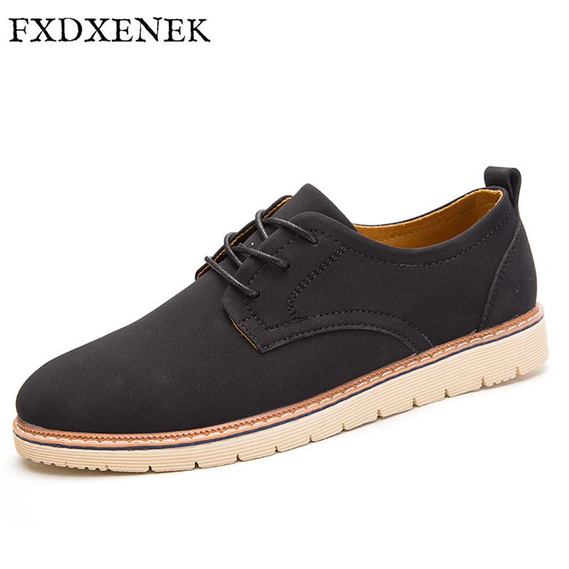 FXDXENEK Men Casual Shoes Autumn 2017 New PU Leather Casual Shoes Breathable Retro Comfortable Casual Shoe Brand Designer micro micro 2017 brand men casual shoes comfortable spring fashion breathable men white shoes microfiber leather shoe 1881