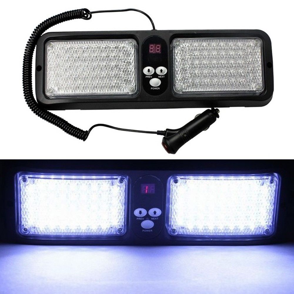 CYAN SOIL BAY White Car 86 LED Emergency Visor Strobe Flashing Light Truck Warning Hazard Flash