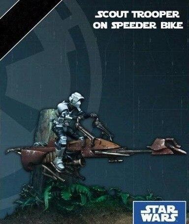 Классический 35 мм бойскаут солдат на спидере велосипед Звездные войны смолы модель комплект фигурка бесплатная доставка