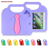 For IPad Air Case Lovely 3D Necktie EVA Rubber Shock Resistant Kids Safe Handle Carrying Cover