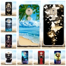 For Motorola Moto G7 Play Cover Soft TPU Silicone Case Cartoon Patterned Bumper Coque