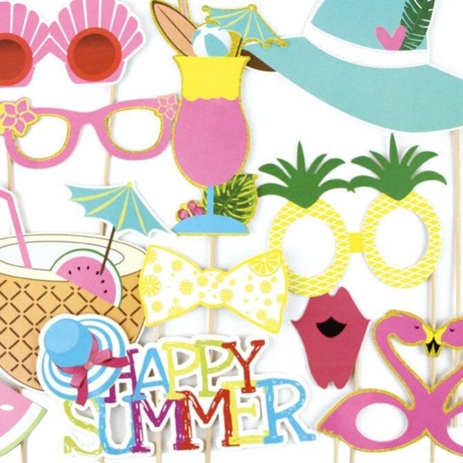 Summer Mood Printable Hawaiian Photo Booth Props Beach Luau Hawaiian