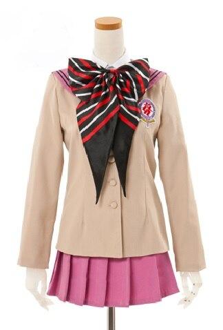 Exorciste bleu Ao pas d'exorciste Shiemi Moriyama uniforme scolaire rose Costume Cosplay E001